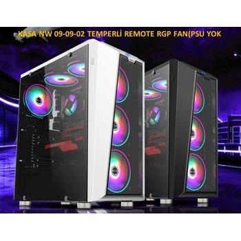 Nw 09-09-02 Temperli Uzaktan Kumandalý RGB Fan(Psu Yok) Atx Kasa