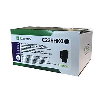 Lexmark C235HK0 3.000 Sayfa Black Siyah Toner C2325-2425-2535 MC2325-2425-2535-2640