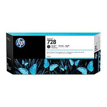 HP 728 Matte Black Mat Siyah 300ML Plotter Kartuþu F9J68A