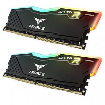 16 GB DDR4 3200 Mhz T-FORCE DELTA RGB BLACK 8GBx2 TEAM TF3D416G3200HC16CDC01