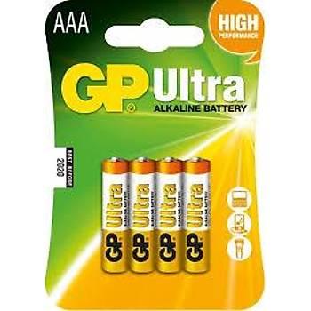 Gp R03 AAA Boy Ultra Alkalin Ýnce Kalem Pil 4'lü Paket GP24AUMB-U4