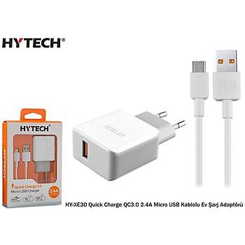 Hytech HY-XE30 Quick Charge QC3.0 2.4A Micro USB Kablo