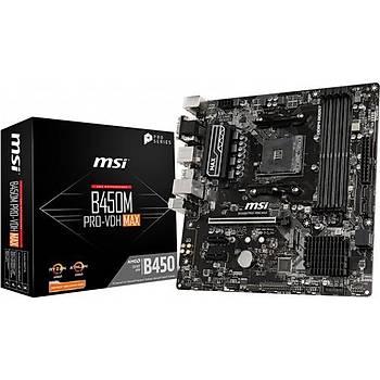 MSI B450M Pro-VDH MAX AMD AM4 DDR4 Anakart