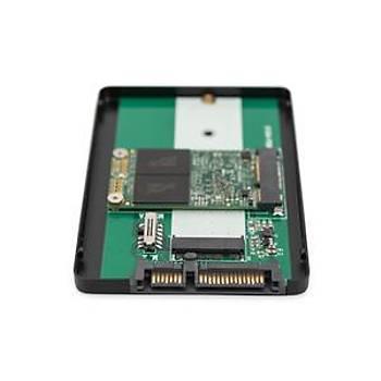 """Digitus 2,5"""" SATA HDD Kutusu M.2 ya da mSATA M.2 SSD  B-Key ya da B+M-Key"""