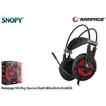 Snopy Rampage SN-R15 Oyuncu Siyah Mikrofonlu Kulaklýk