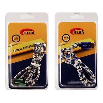 Elba ECK-44M Baðlantý Kablosu Micro 1mt Renkli