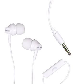 Maxell EB-875 Beyaz Kulakiçi Mikrofonlu Kulaklýk Tek Jaklý