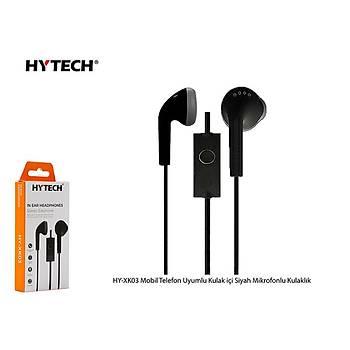 Hytech HY-XK03 Mobil Telefon Uyumlu Kulak içi Siyah Mikrofonlu Kulaklýk
