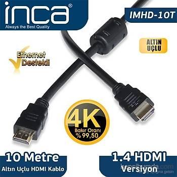 Inca IMHD-10T 10M 4K 1,4 V 3D Altýn Uçlu HDMI Kablo