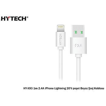 Hytech HY-X93 1m 2.A iPhone Lightning 20'li Poþet