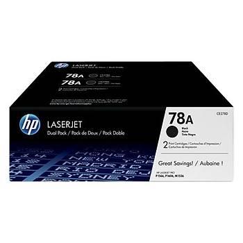 HP 78AF Black Siyah Çiftli 2.100 Sayfa Toner CE278AF