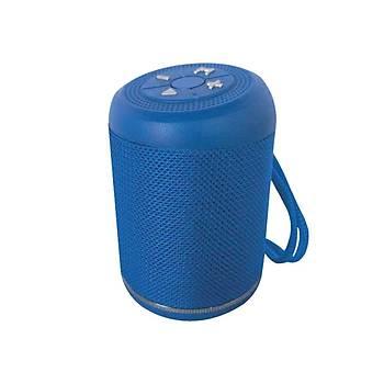Hytech HY-S16 Strain 3.7V-5V 500ma Mavi  Aux Usb Tf Kart Destekli 3w-1-90dB Bluetooth Speaker