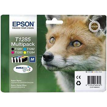 Epson BX305 SX125-425 Multipack 4'lü Mürekkep Kartuþ T12854022