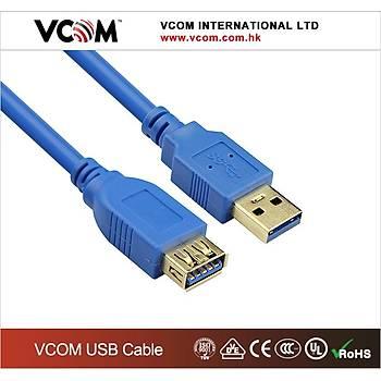 Vcom CU302-1.8mt Mavi Usb 3.0 Uzatma Kablosu