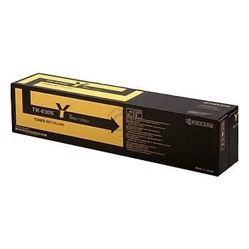 Kyocera TK-8305Y Yellow Sarý Orjinal Fotokopi Toneri Taskalfa 3050ci-3051ci-3550ci-3551ci 15.000 Say