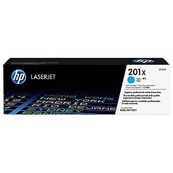 HP 201X Cyan Mavi Yüksek Kapasite 2.800 Sayfa Toner CF401X