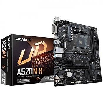 Gigabyte GA-A520M H AMD A520 2133 MHz DDR4 Soket AM4 mATX Anakart