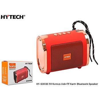 Hytech HY-S30 DC 5V Bluetooth Speaker Kýrmýzý Usb+TF Kart+