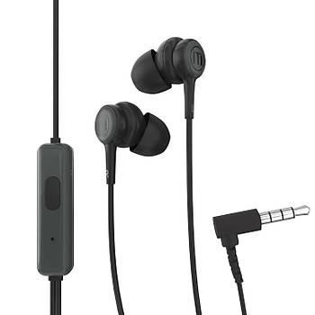 Maxell In-Tips Earphones Siyah Kulakiçi Mikrofonlu Kulaklýk Tek Jaklý