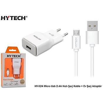 Hytech HY-X24 Micro Usb 2.4A Hýzlý Þarj Kablo + Ev Þarj Adaptör