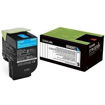 Lexmark 80C8XC0 4.000 Sayfa Cyan Mavi Toner CX510 808XC