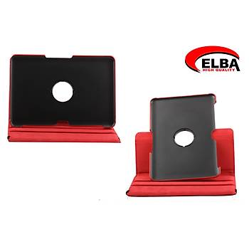 Elba Samsung Tab2 P5100 Renkli Kýlýf 360 Derece Dönebilen (Beyaz-Kýrmýzý-Açýk Mavi-Siyah)