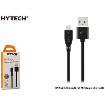 Hytech HY-X52 1M 1.5A Siyah Mini 5 pin USB Kablo