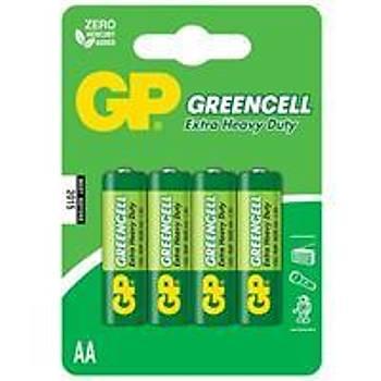 GP Greencel R6 AA Boy Çinko Kalem Pil 4'lü Paket GP15G-U4