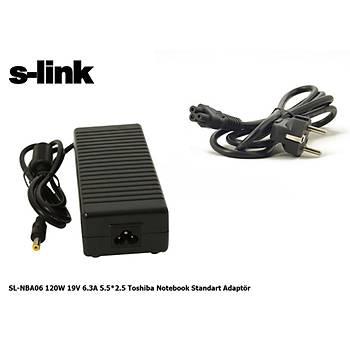 S-link SL-NBA06 120w 19v 6.3a 5.5-2.5 Notebook Adaptör