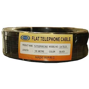 Köken LN-TEL33 100mt Siyah Telefon Kablosu