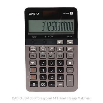 Casio JS-40B Profesyonel 14 Hane Masa Üstü Hesap Makinesi