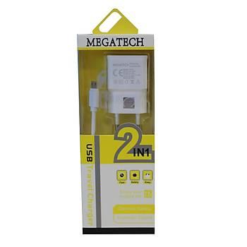 Megatech 2200mah Micro Ev Þarj+Micro Kablo