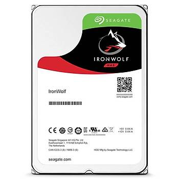 """Seagate 4Tb Ironwolf 3,5"""" 64Mb 5900Rpm St4000Vn008 Harddisk"""