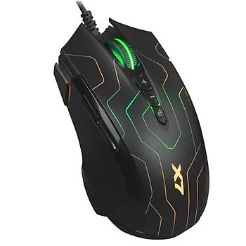 A4 Tech X89 Oscar X7 Neon Maze 2400Dpý Usb Makrolu Oyuncu Mouse