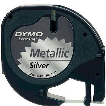 Dymo Letratag Metalik Þerit 12 mm X 4 Metre Gri
