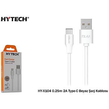 Hytech HY-X104 0.25m 2A Type-C Beyaz Þarj Kablosu