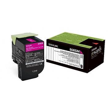 Lexmark 80C8SM0 2.000 Sayfa Magenta Kýrmýzý Toner CX310-410-510 808SM