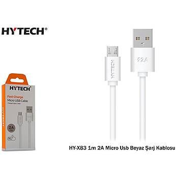 Hytech HY-X83 1m 2A Micro Usb Siyah Þarj Kablosu