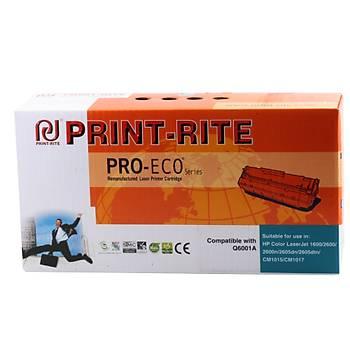 Print-Rite Hp Q6001A Mavi Muadil Toner CM1015mfp-CM1017mfp-1600-2600n-2605