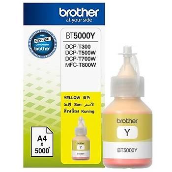 Brother BT5000C Yellow Sarý 5.000 Sayfa Þiþe Mürekkep DCP-T300-310-500-510-700-710 MFC-T800-810