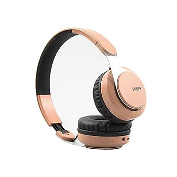 Snopy SN-34BT COSY Rose Gold Mobil Telefon Uyumlu Bluetooth Kablosuz Mikrofonlu Kulaklýk