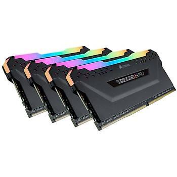 Corsair Vengeance RGB PRO 64GB (4x16) 3600Mhz CMW64GX4M4D3600C18 Siyah