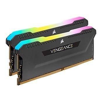 Corsair Vengeance RGB PRO SL 16GB (2x8) 3600Mhz CL18 CMH16GX4M2Z3600C18 DDR4 Ram Bellek Siyah