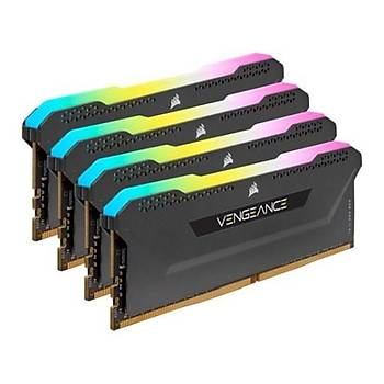 Corsair Vengeance RGB PRO SL 32GB (4x8) 3200Mhz CL16 CMH32GX4M4E3200C16 DDR4 Ram Bellek Siyah