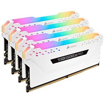 Corsair Vengeance RGB PRO SL 32GB (4x8) 3200Mhz CL16 CMH32GX4M4E3200C16W DDR4 Ram Bellek Beyaz