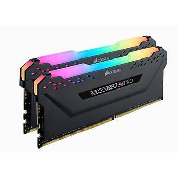 Corsair Vengeance RGB PRO 64GB (2x32GB) DDR4 3200Mhz CMW64GX4M2E3200C16 Bellek Siyah