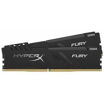 Kingston HyperX FURY Black 64GB 3200MHz DDR4 CL16 DIMM (2x32) Gaming Bellek (HX432C16FB3K2/64)