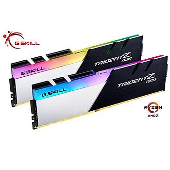 GSKILL Trident Z Neo RGB 32GB (2x16) DDR4 3200Mhz CL16 AMD Ryzen Uyumlu (F4-3200C16D-32GTZN)