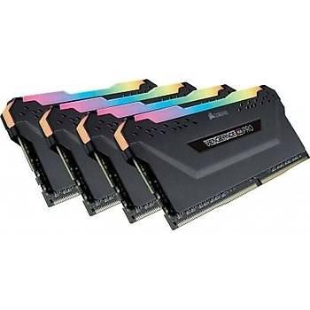 Corsair Vengeance RGB PRO SL 32GB (4x8) 3600Mhz CL18 CMH32GX4M4D3600C18 DDR4 Ram Bellek Siyah