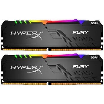 Kingston HyperX FURY RGB 64GB 3600MHz DDR4 CL18 DIMM (2x32) Gaming Bellek (HX436C18FB3AK2/64)